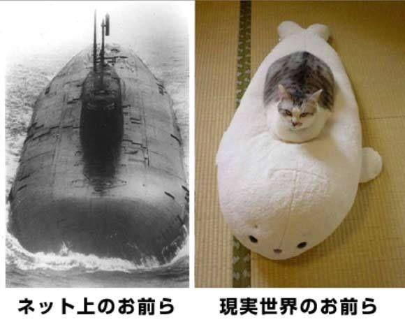 ネット上のお前ら現実世界のお前ら(軍艦バージョン)
