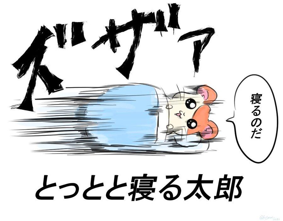 とっとと寝る太郎 寝るのだ